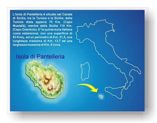 Cartina Della Sicilia Con Le Isole.Pantelleria Posizione Geografica Dell Isola
